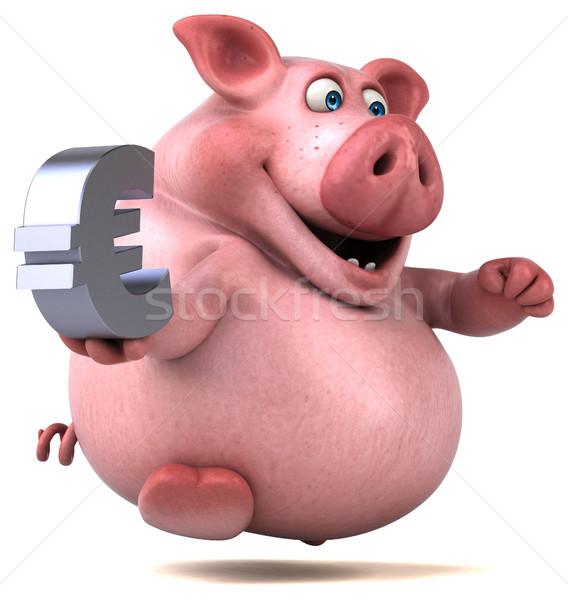 весело свинья 3d иллюстрации бизнеса деньги продовольствие Сток-фото © julientromeur
