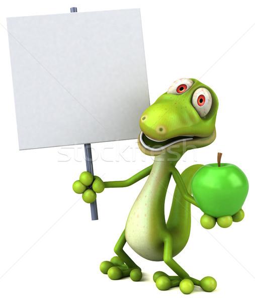 Foto stock: Diversão · lagarto · fruto · verde · cor · animal
