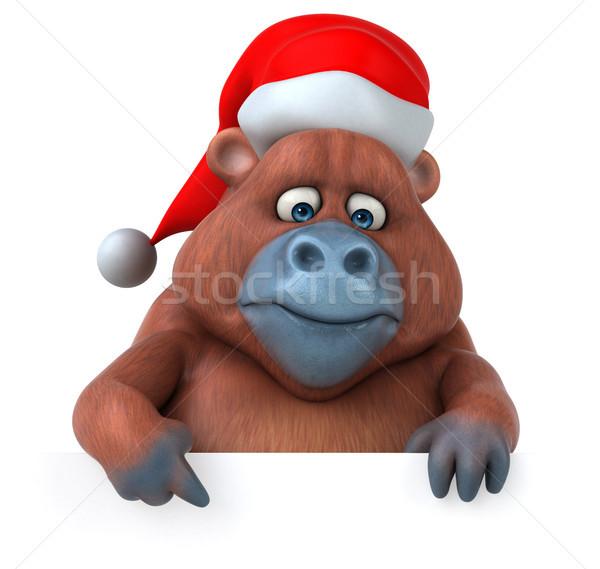 Eğlence orangutan 3d illustration doğa Afrika maymun Stok fotoğraf © julientromeur