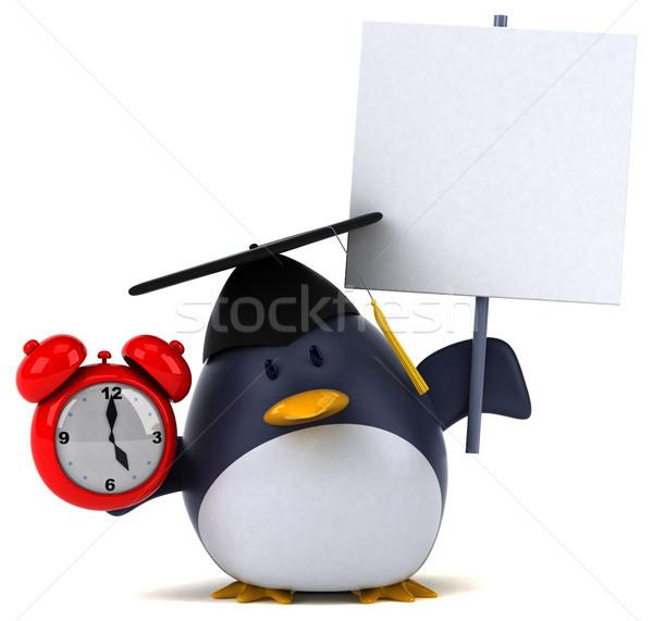 Jókedv pingvin 3d illusztráció óra madár vicces Stock fotó © julientromeur