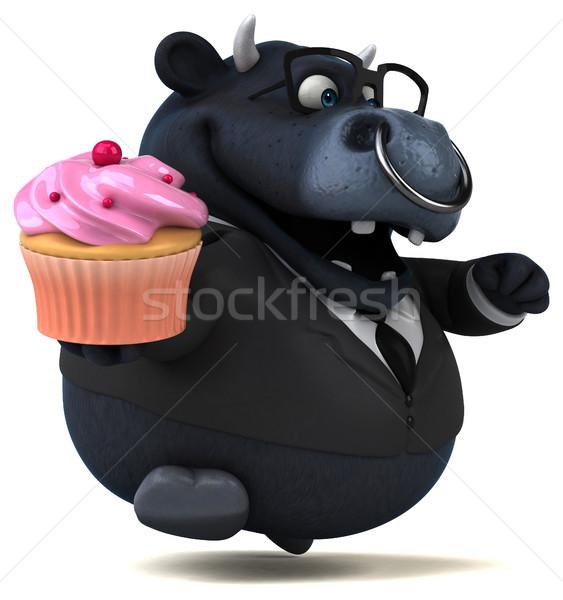 黒 牛 3次元の図 スーツ チーズ 動物 ストックフォト © julientromeur