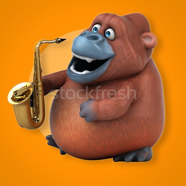Diversão ilustração 3d natureza concerto África macaco Foto stock © julientromeur