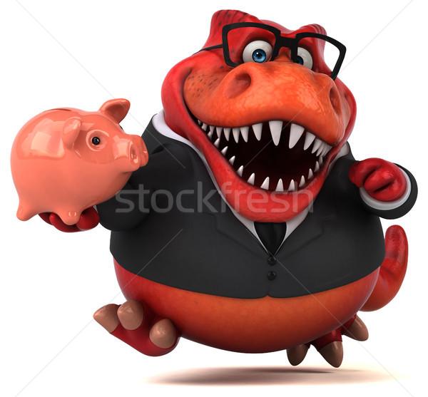 весело 3d иллюстрации бизнесмен Финансы зубов животного Сток-фото © julientromeur