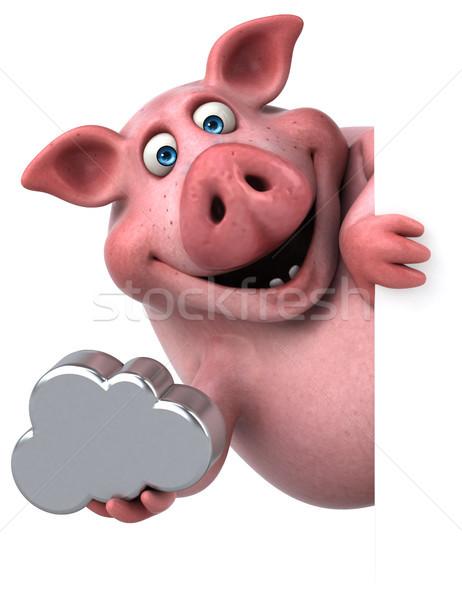 Stok fotoğraf: Eğlence · domuz · 3d · illustration · gıda · dijital · yağ