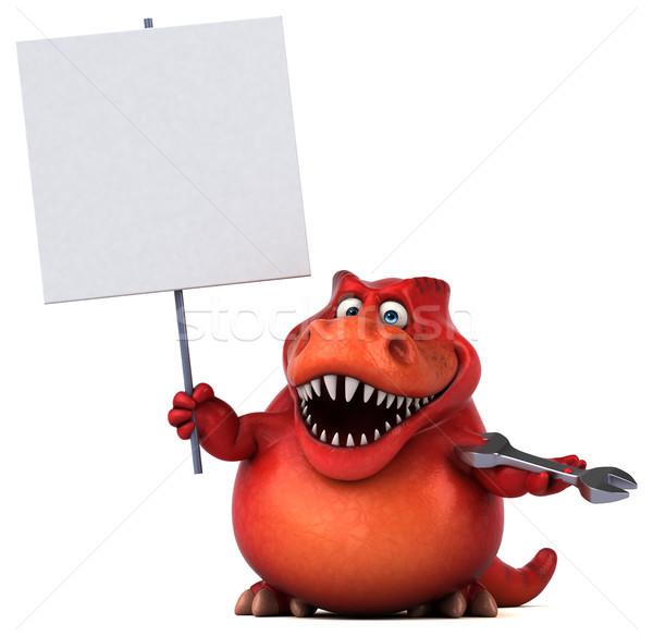 Eğlence dinozor 3d illustration işçi dişler hayvan Stok fotoğraf © julientromeur