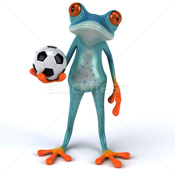 Jókedv béka 3d illusztráció sport futball környezet Stock fotó © julientromeur