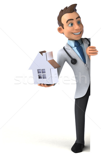 Amusement médecin coeur maison santé hôpital Photo stock © julientromeur