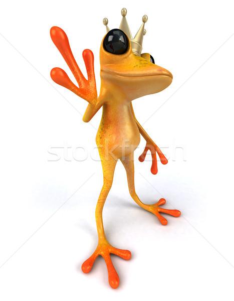 Zabawy żaba pomarańczowy korony tropikalnych 3D Zdjęcia stock © julientromeur