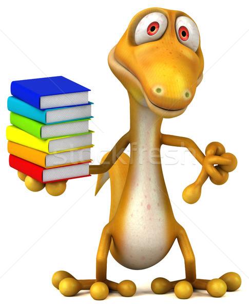Zabawy jaszczurka szkoły nauczyciel kolor zwierząt Zdjęcia stock © julientromeur
