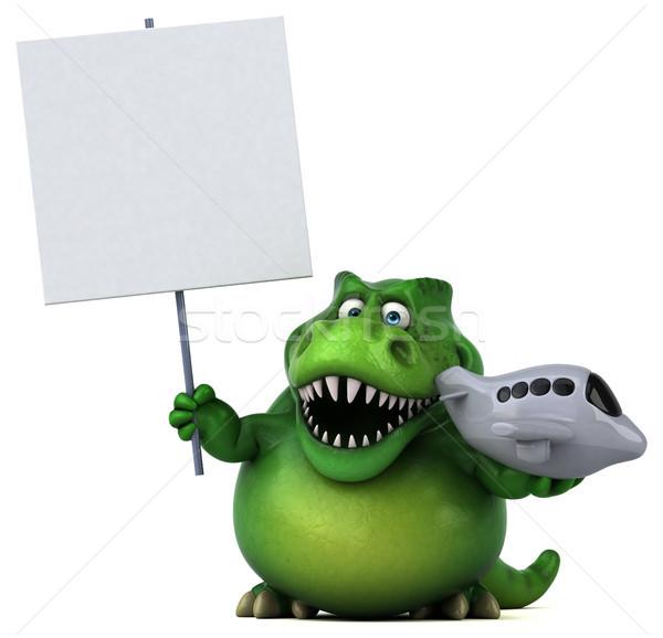 Foto stock: Diversão · dinossauro · ilustração · 3d · viajar · dentes · voar