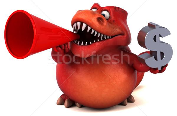 Foto stock: Diversão · dinossauro · ilustração · 3d · financiar · dentes · animal