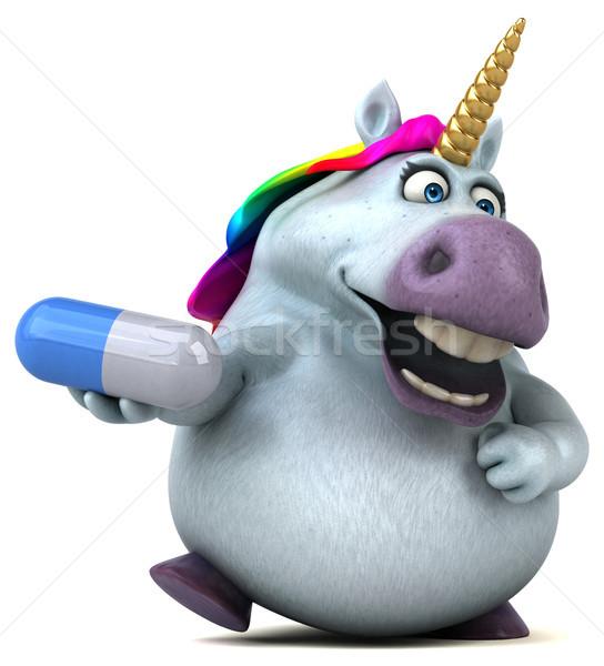 Fun unicorn - 3D Illustration Stock photo © julientromeur