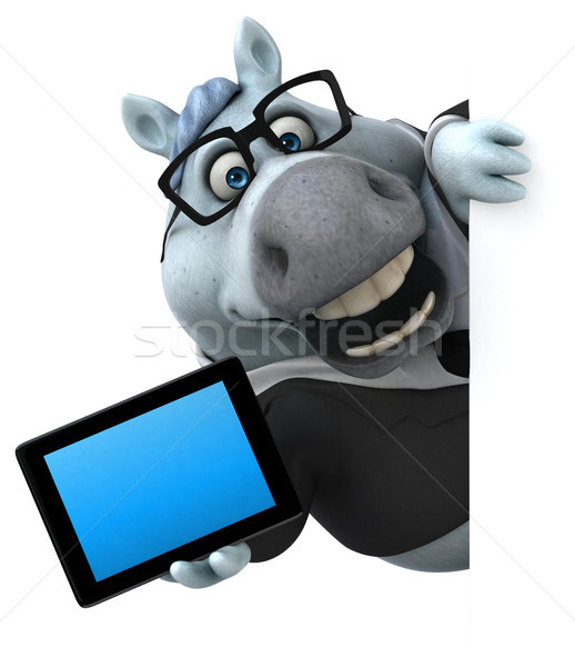 Zabawy konia 3d ilustracji Internetu gospodarstwa wyścigu Zdjęcia stock © julientromeur