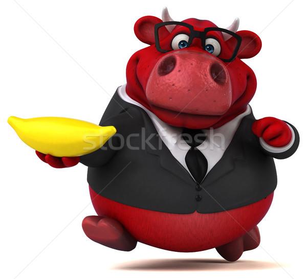 Rosso toro illustrazione 3d lavoro mucca suit Foto d'archivio © julientromeur