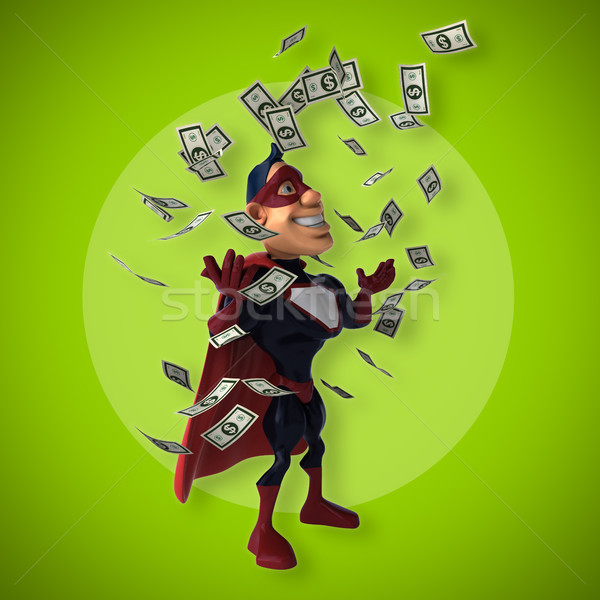 Fun superhero - 3D Illustration Stock photo © julientromeur