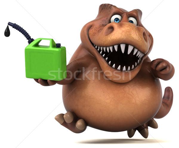 Сток-фото: весело · 3d · иллюстрации · зеленый · зубов · животного · история