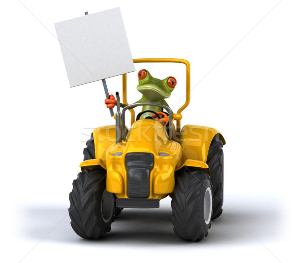 楽しい カエル 国 トラクター 農家 機械 ストックフォト © julientromeur