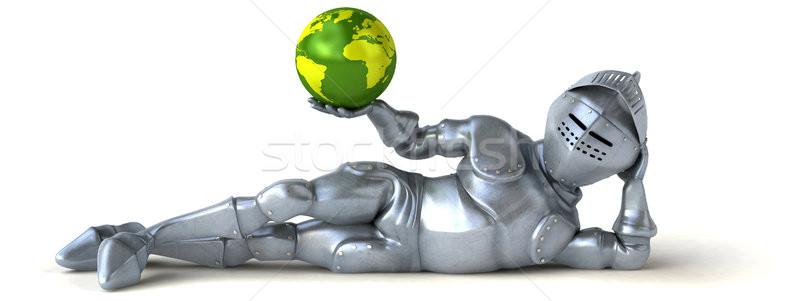 Jókedv lovag világ digitális bolygó katona Stock fotó © julientromeur
