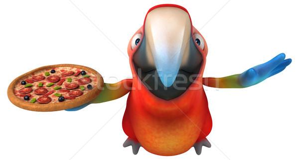 Zabawy papuga oka ptaków zielone dżungli Zdjęcia stock © julientromeur