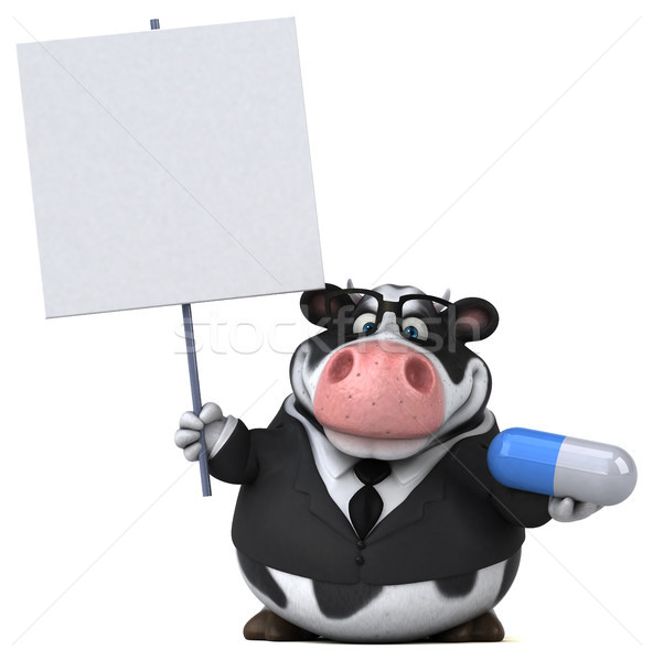 Fun cow - 3D Illustration Stock photo © julientromeur