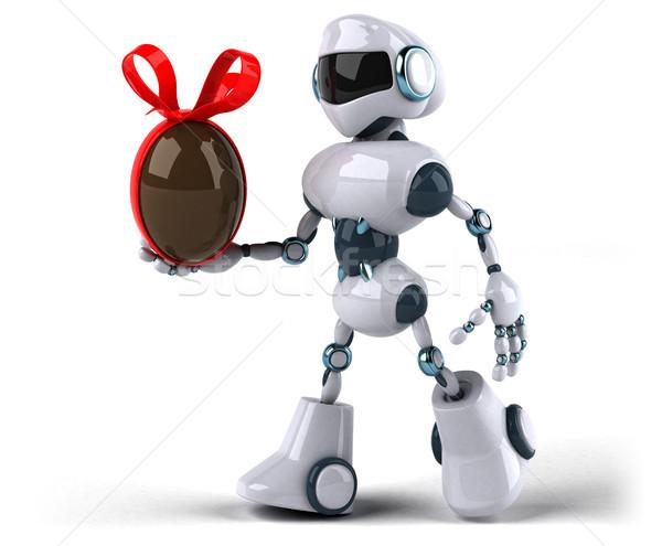 Robot tecnologia cioccolato retro futuro 3D Foto d'archivio © julientromeur