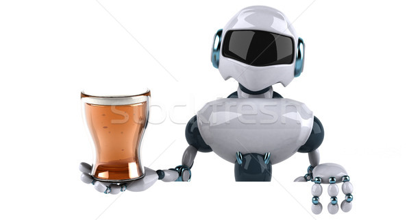Robot tecnología beber retro futuro 3D Foto stock © julientromeur