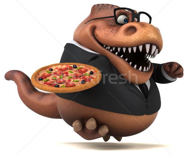 Diversão ilustração 3d negócio pizza empresário financiar Foto stock © julientromeur