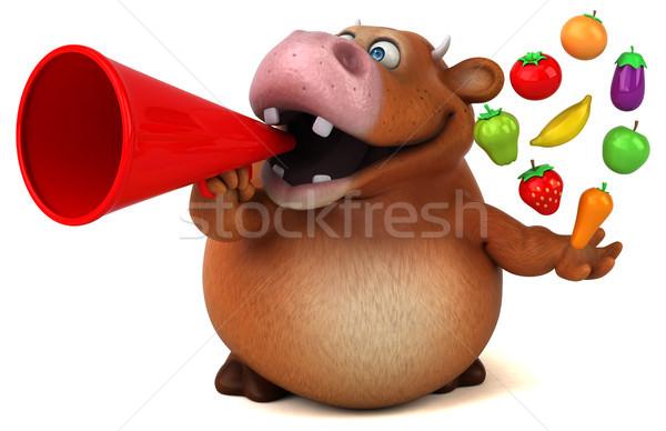 Fun cow - 3D Illustration Stock photo © julientromeur
