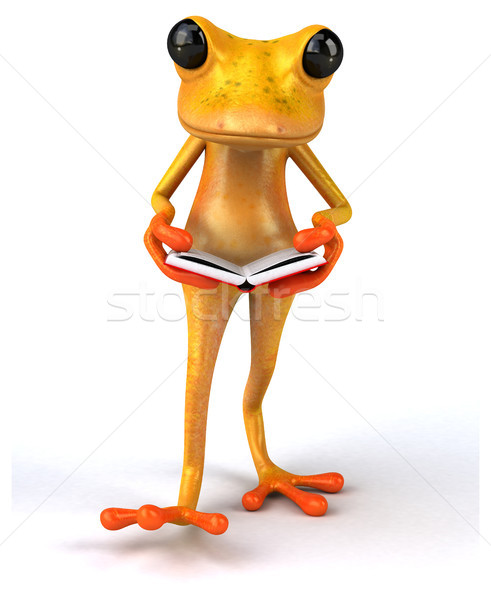 Eğlence kurbağa okul turuncu tropikal öğrenme Stok fotoğraf © julientromeur