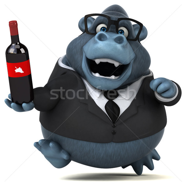 Eğlence goril 3d illustration içmek takım elbise hayvanlar Stok fotoğraf © julientromeur