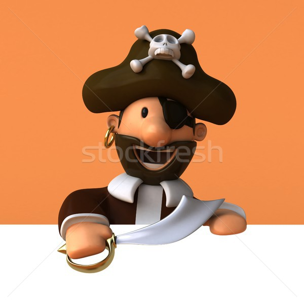 Fun pirate - 3D illustration Stock photo © julientromeur