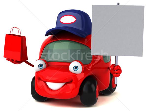 Jókedv autó 3d illusztráció út vásárlás forgalom Stock fotó © julientromeur