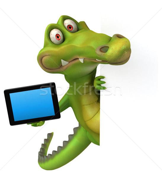 Krokodyla zabawy szczęśliwy projektu sztuki usta Zdjęcia stock © julientromeur