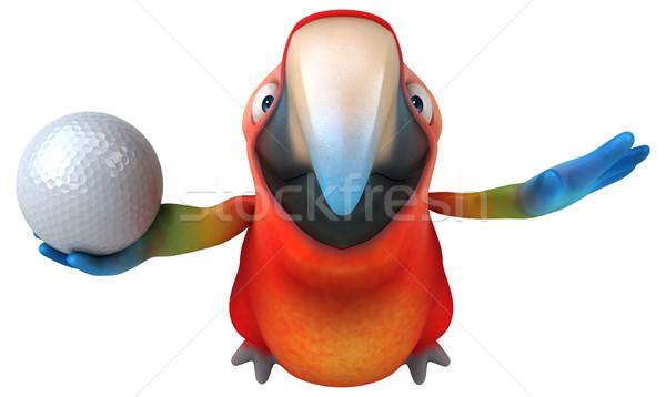 Jókedv papagáj szem golf sport madár Stock fotó © julientromeur