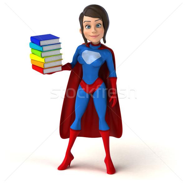 Szuper nő könyvek test lányok sebesség Stock fotó © julientromeur