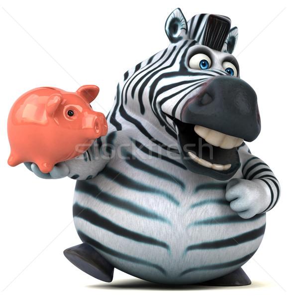 весело зебры 3d иллюстрации деньги Африка животного Сток-фото © julientromeur