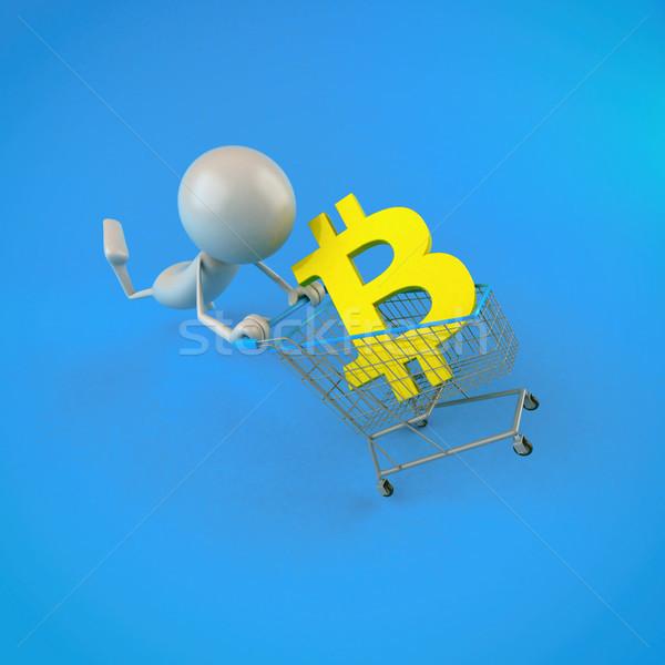 Bitcoin compras ilustração 3d internet tela financiar Foto stock © julientromeur