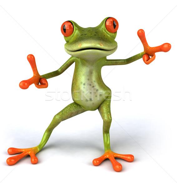 Zabawy żaba zielone środowiska 3D Zdjęcia stock © julientromeur