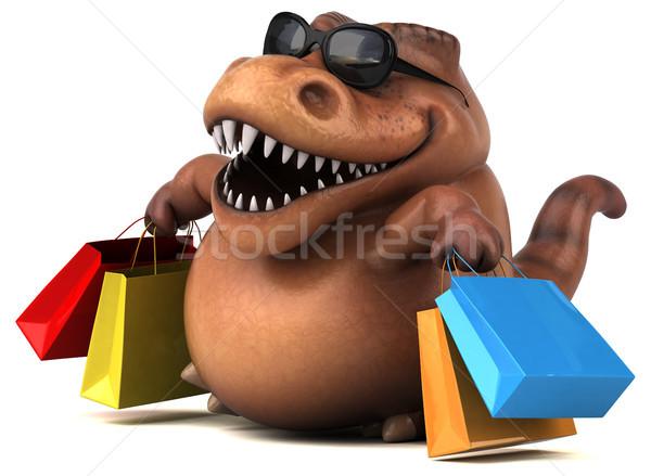 Diversão dinossauro ilustração 3d compras dentes animal Foto stock © julientromeur