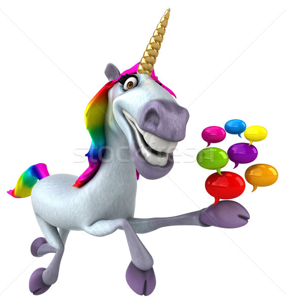 Fun unicorn - 3D Illustration Stock photo © julientromeur