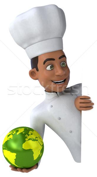 Jókedv szakács étterem fekete állás bolygó Stock fotó © julientromeur