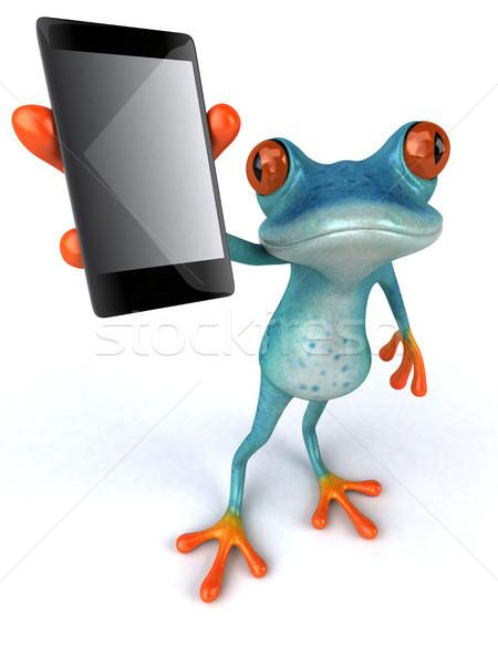 Eğlence kurbağa 3d illustration çevre örnek yaban hayatı Stok fotoğraf © julientromeur
