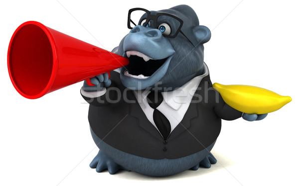 Jókedv gorilla 3d illusztráció gyümölcs szemüveg öltöny Stock fotó © julientromeur