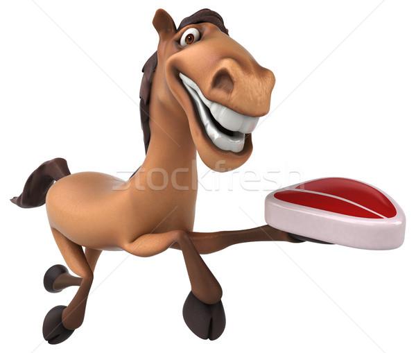 Diversión caballo carne dientes cabeza carrera Foto stock © julientromeur