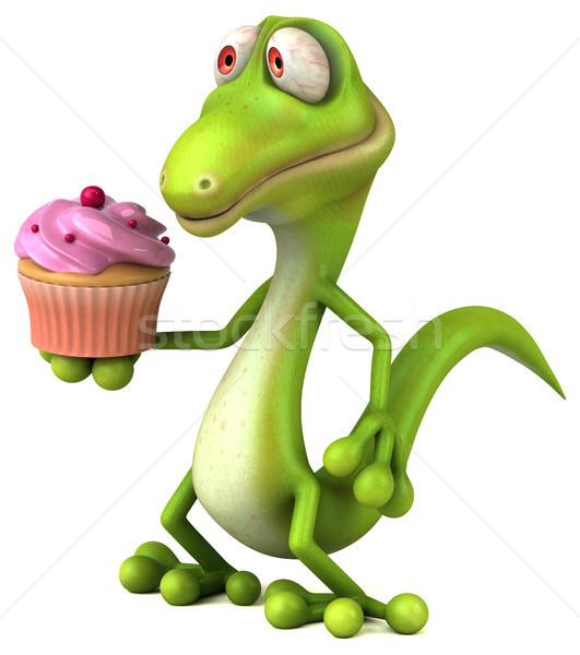 楽しい トカゲ 緑 色 動物 恐竜 ストックフォト © julientromeur