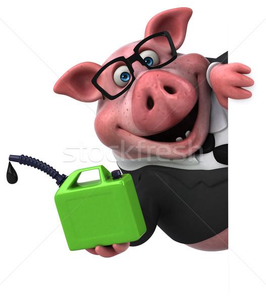 Diversão porco ilustração 3d terno fazenda financiar Foto stock © julientromeur
