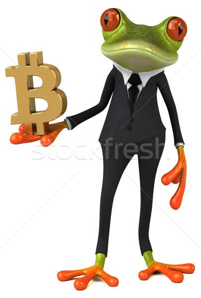 Distracţie broască ilustrare 3d bani finanţa lanţ Imagine de stoc © julientromeur