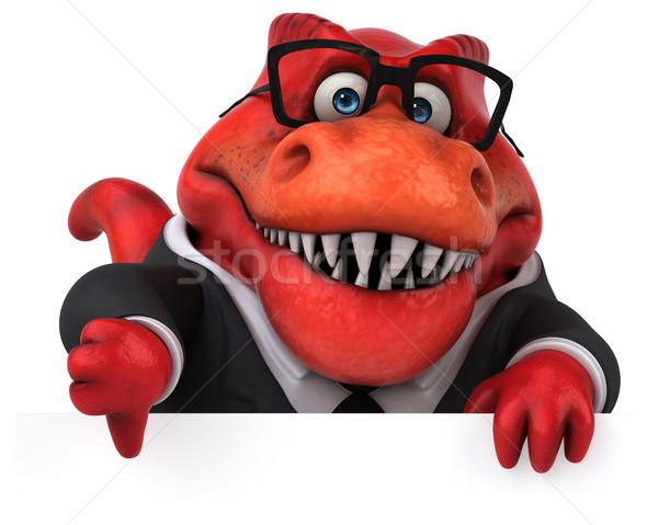 весело 3d иллюстрации книга деловой человек банка зубов Сток-фото © julientromeur
