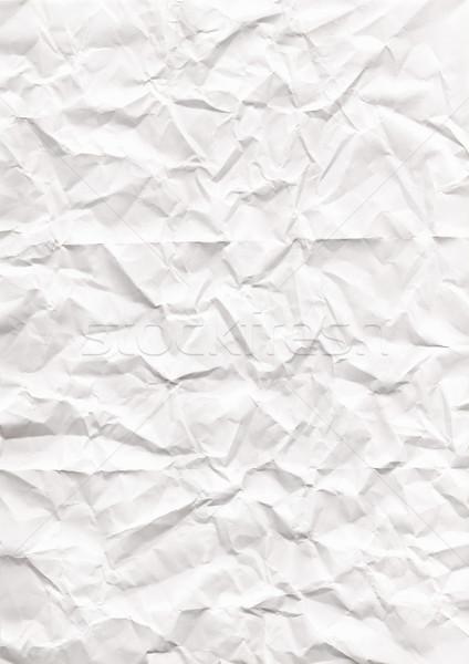 Ráncos papír textúra fehér papír mintázott absztrakt Stock fotó © Julietphotography