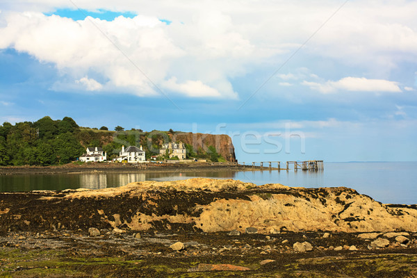 Muelle negro playa Escocia dos playas Foto stock © Julietphotography